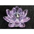 Crystal Lotus Flower 100mm - Purple