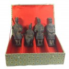 4 Terracotta Warriors - Scale Replicas