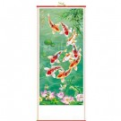 Chinese Picture Scroll - Carp Fish