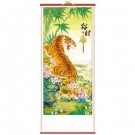 Chinese Picture Scroll - Prowling Tiger