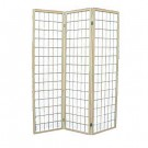 Chinese Room Divider - small lattice design, natural frame