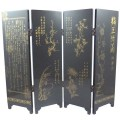 The Four Gentlemen - Chinese Tabletop Screen